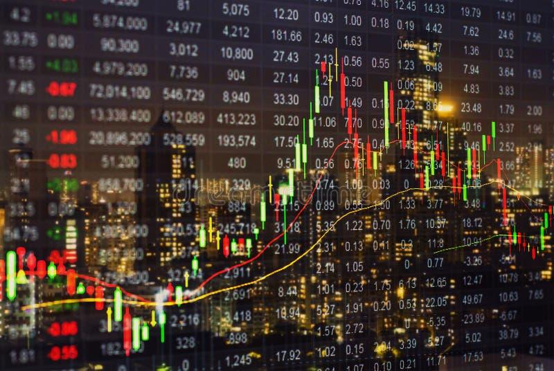 Diagramme de marché boursier, données de marché boursier sur l'esprit de concept d'affichage à LED image stock
