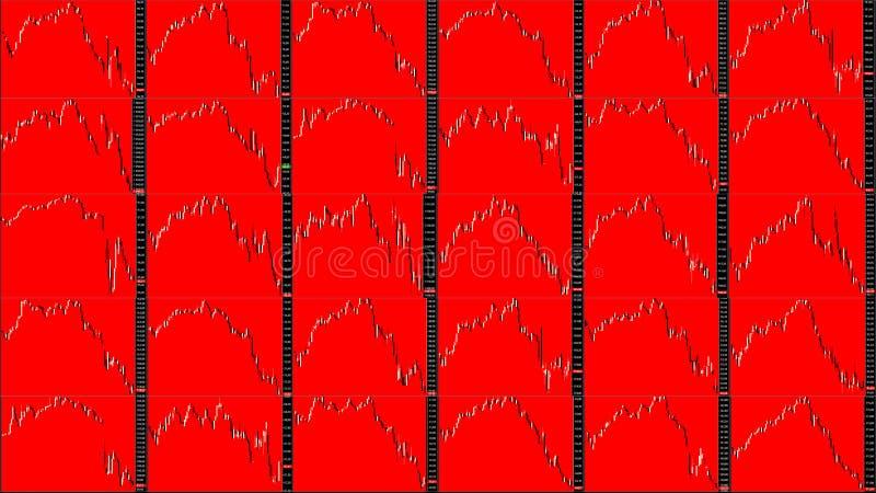 Diagramme de marché boursier downtrend illustration libre de droits