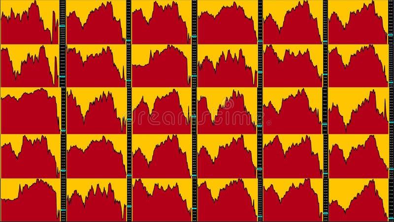 Diagramme de marché boursier downtrend illustration de vecteur