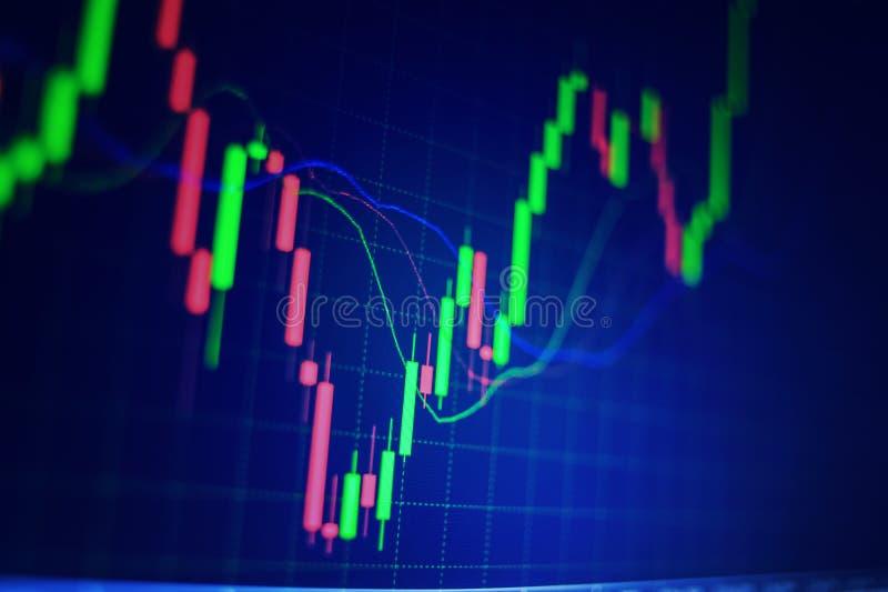 Diagramme de marché boursier de forex Fond de graphique de gestion Monter photographie stock libre de droits