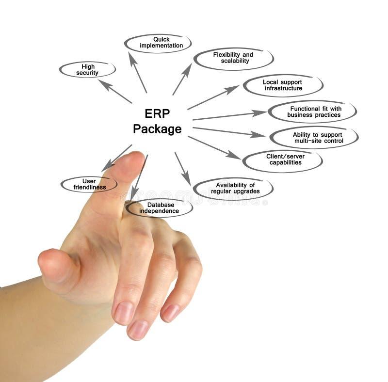 Diagramme de paquet d'ERP photo stock