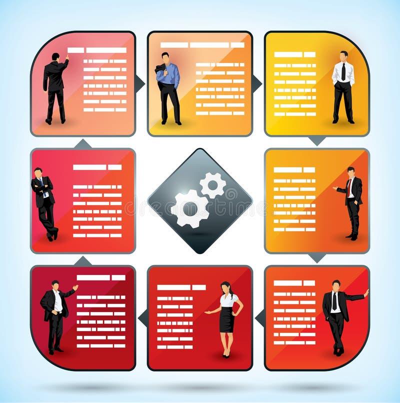 Diagramme de présentation des employés d'affaires illustration libre de droits