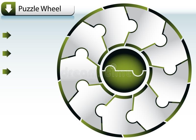 Diagramme de roue de puzzle illustration de vecteur