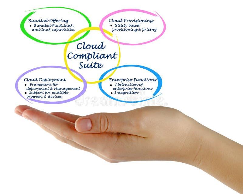Diagramme de suite conforme de nuage photo stock