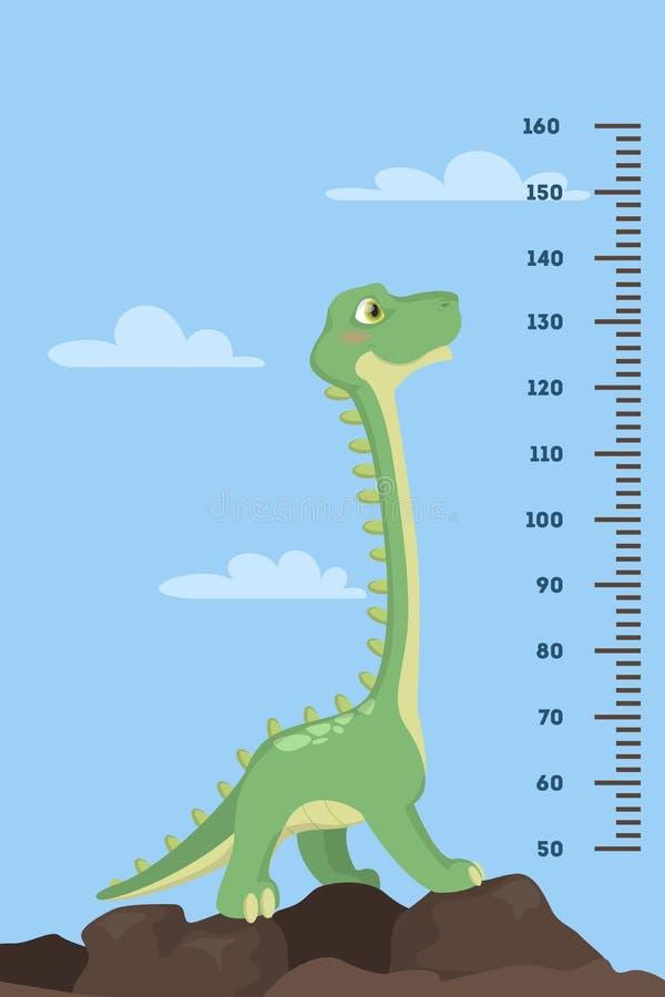 Diagramme de taille de dinosaure illustration stock