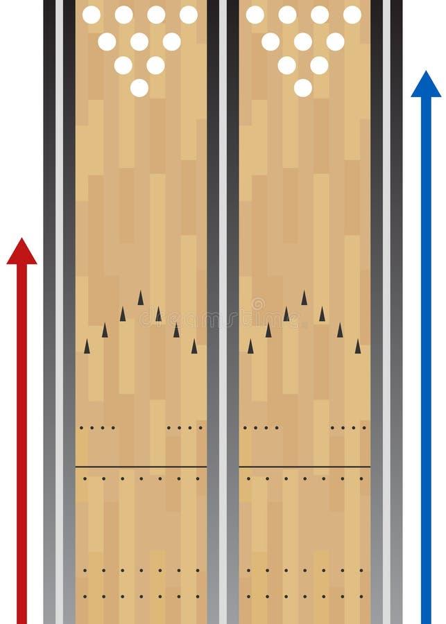 Diagramme de voie de bowling illustration libre de droits