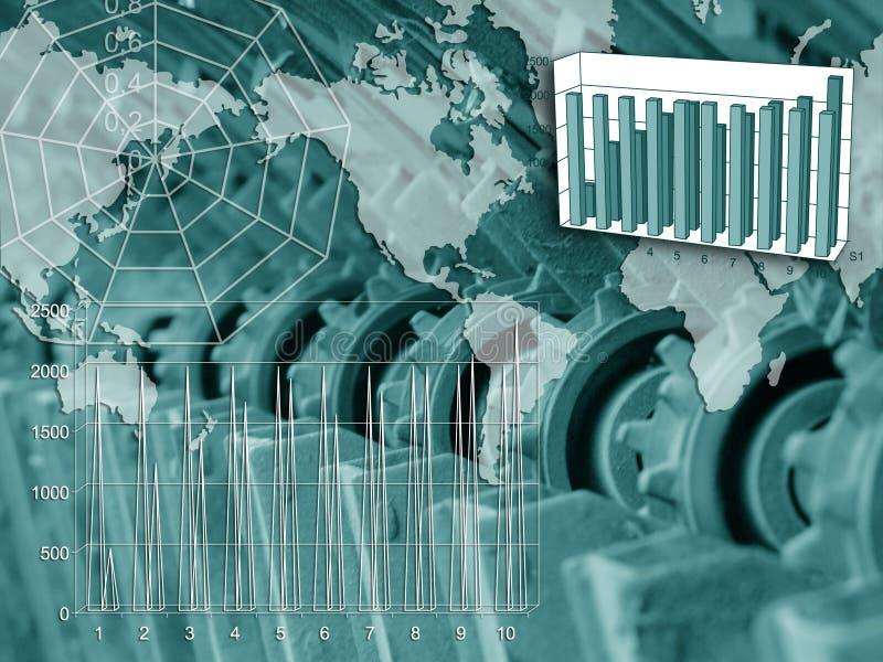 Diagramme der Entwicklung lizenzfreie abbildung