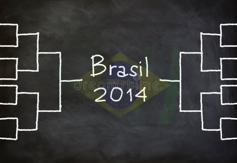 Diagramme du Brésil 2014 image libre de droits