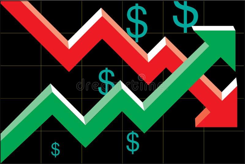 Download Diagramme du dollar illustration de vecteur. Image du dette - 19465126