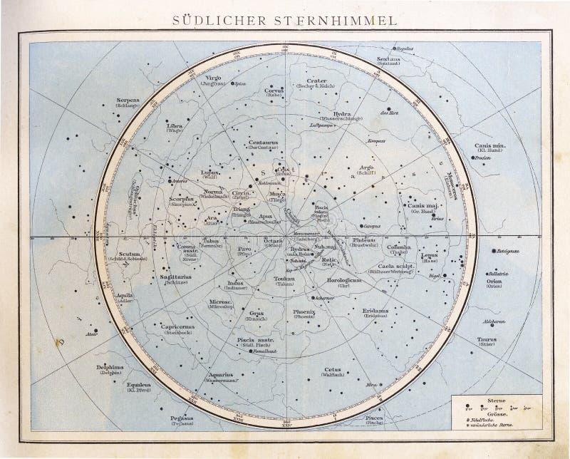 Diagramme en étoile de vintage, 1890. image libre de droits