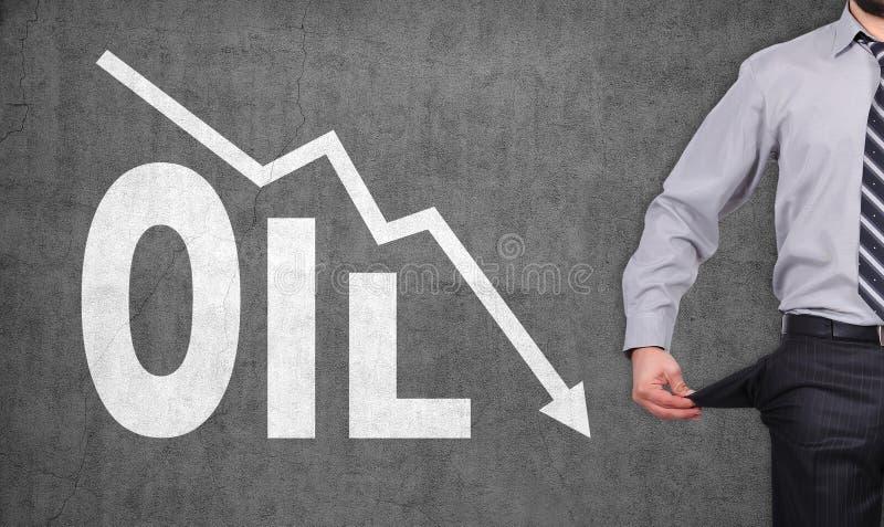 Diagramme en baisse d'huile photos stock