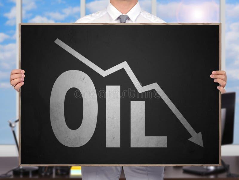 Diagramme en baisse d'huile photographie stock libre de droits
