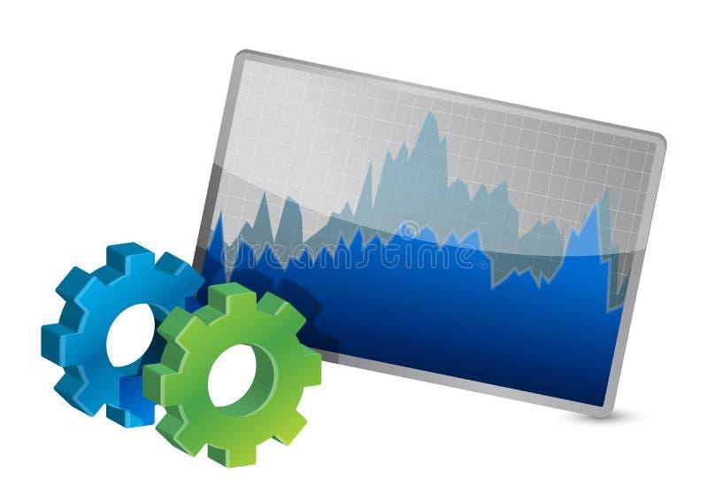 Diagramme et vitesses de marché boursier illustration libre de droits
