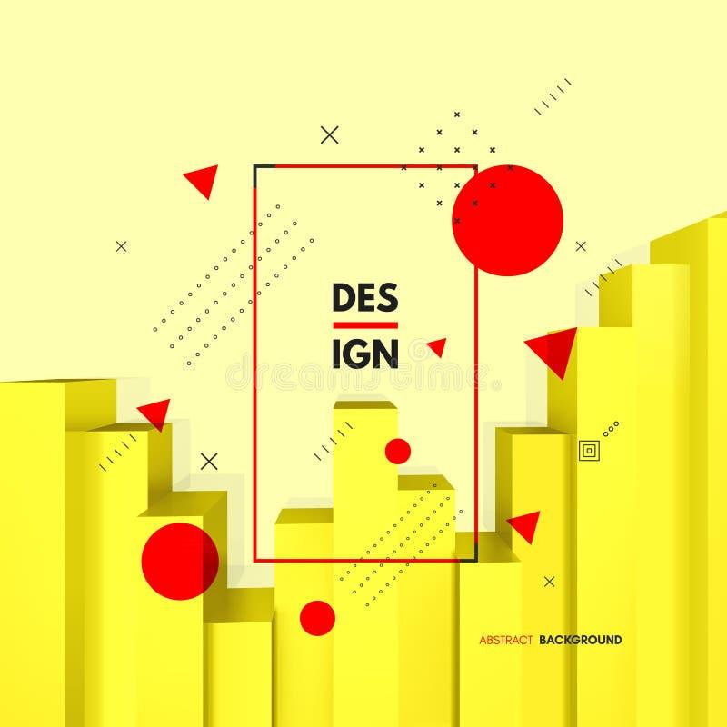 Diagramme financier abstrait Concept d'affaires illustration du vecteur 3d pour le marketing, la recherche, les statistiques et l illustration libre de droits