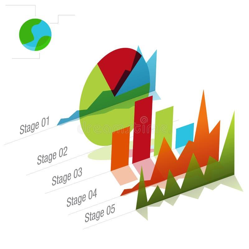 Diagramme global de graphique illustration stock