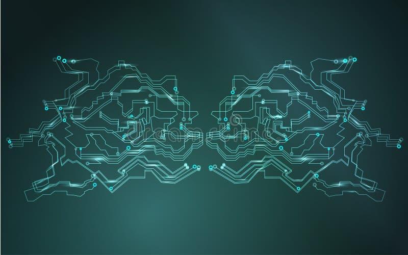Diagramme global de réseau informatique Données et communication d'Internet Concept financier futuriste de sécurité de réseau de  illustration de vecteur