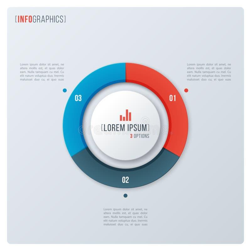 Diagramme moderne de beignet de cercle de style, conception infographic, visualizati illustration libre de droits