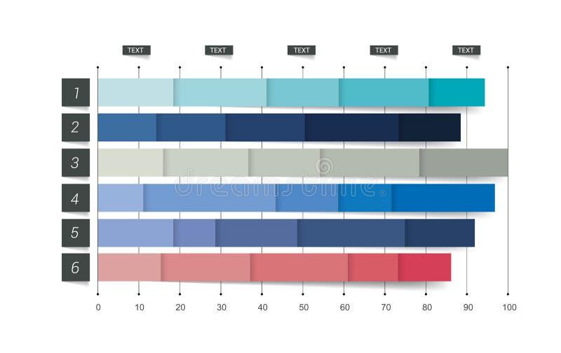 Diagramme plat, graphique Simplement couleur editable illustration de vecteur