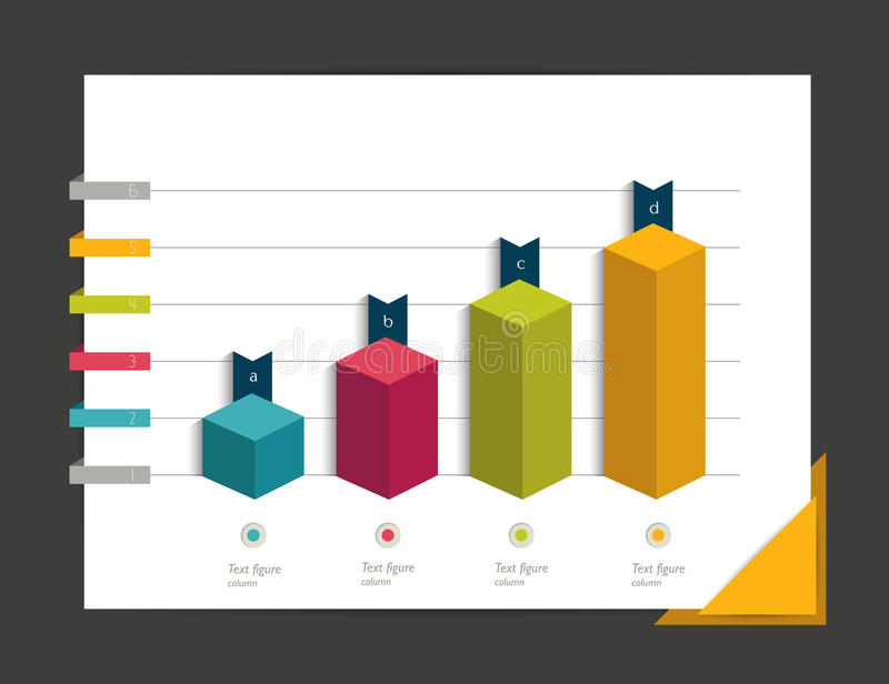Diagramme pour infographic illustration stock