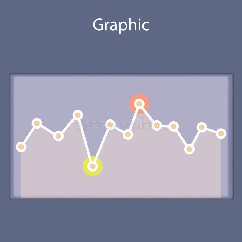 Diagramme progressif de Minimalistic, plan illustration stock