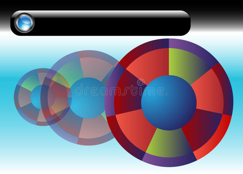 Diagramme rond illustration stock