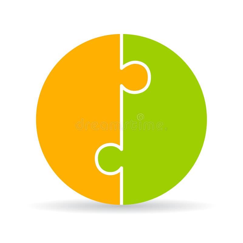 Diagramme rond vide de puzzle illustration de vecteur
