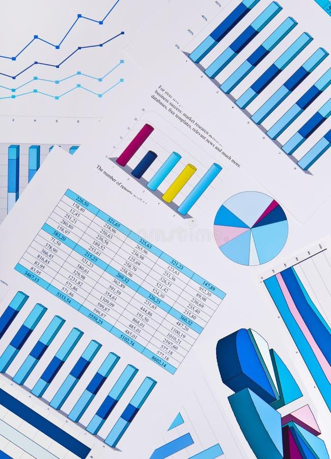 Diagramme Und Diagramme, Geschäftshintergrund Lizenzfreies Stockbild
