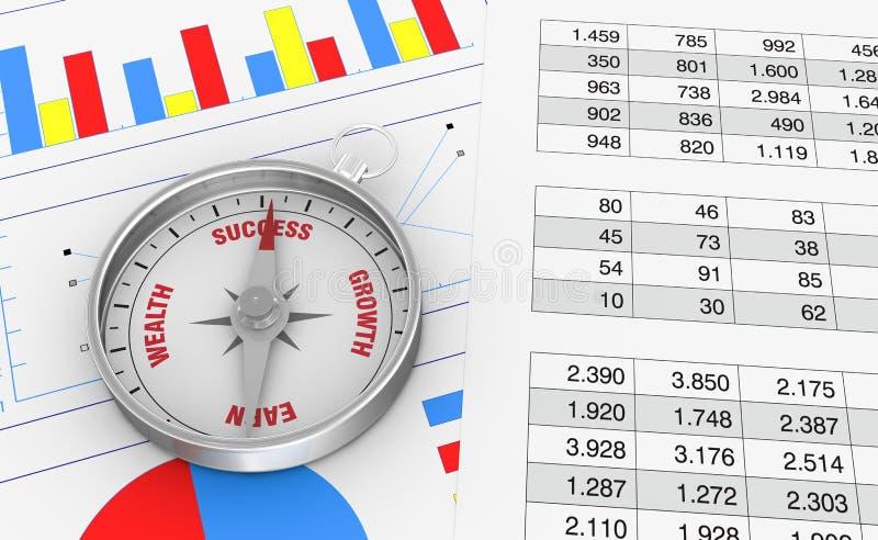 Diagramme und Kalkulationstabelle lizenzfreie abbildung
