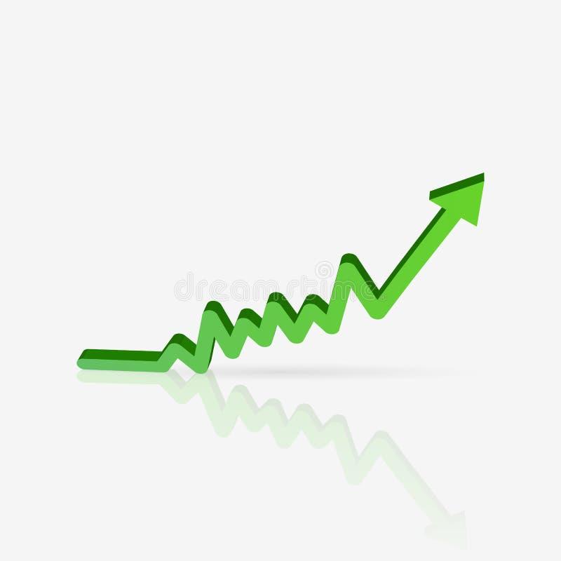 Diagramme vert de ventes illustration de vecteur