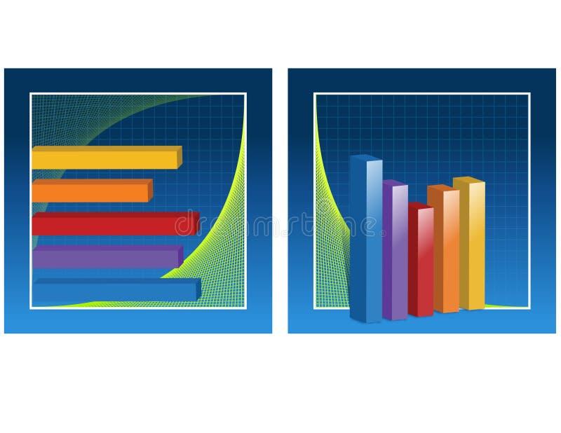 Diagrammes à barres illustration de vecteur