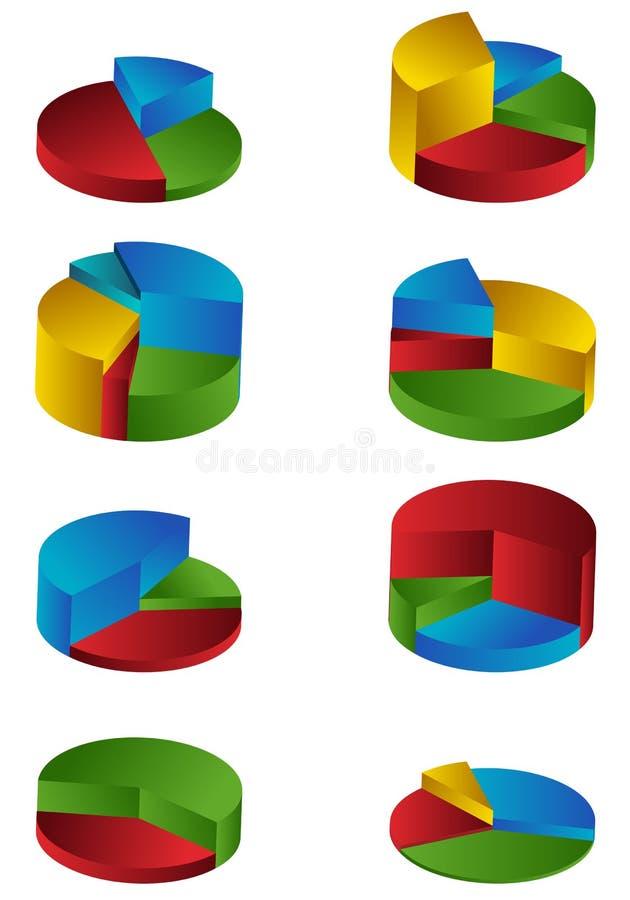 Diagrammes à gradins illustration libre de droits