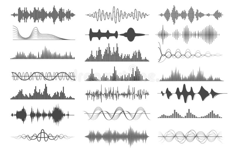 Diagrammes d'onde sonore illustration stock