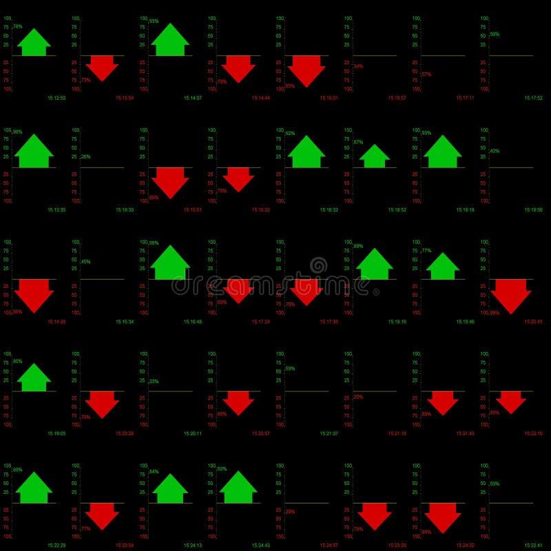 Diagrammes de commerce courant image stock