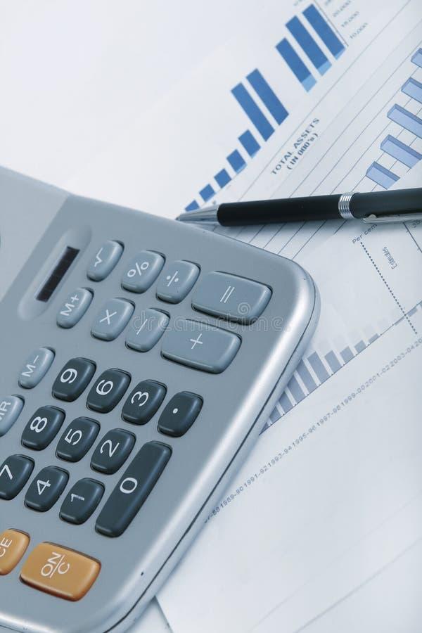 Diagrammes financiers images stock