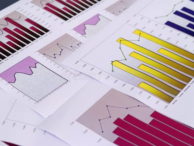 Diagrammes financiers image libre de droits
