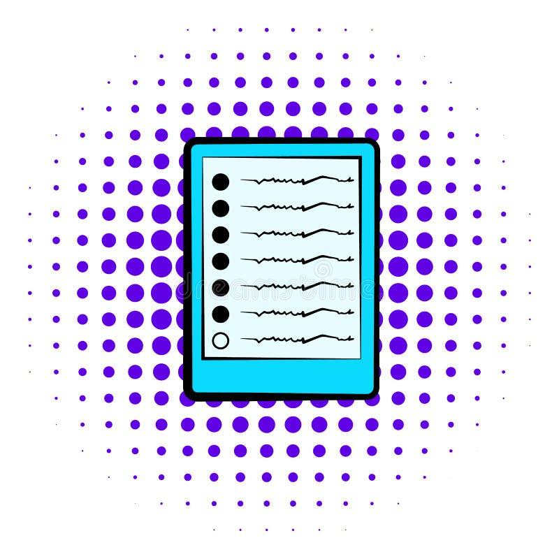 Diagrammet av symbolen för hjärnaktivitet, komiker utformar vektor illustrationer
