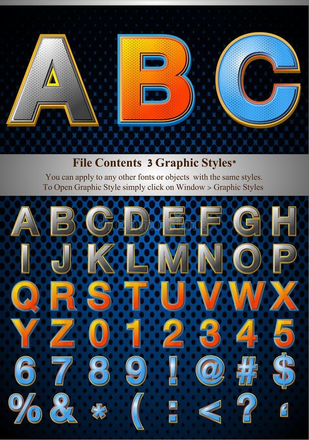 Download Diagrammet letters stil vektor illustrationer. Illustration av dekorativt - 19787228