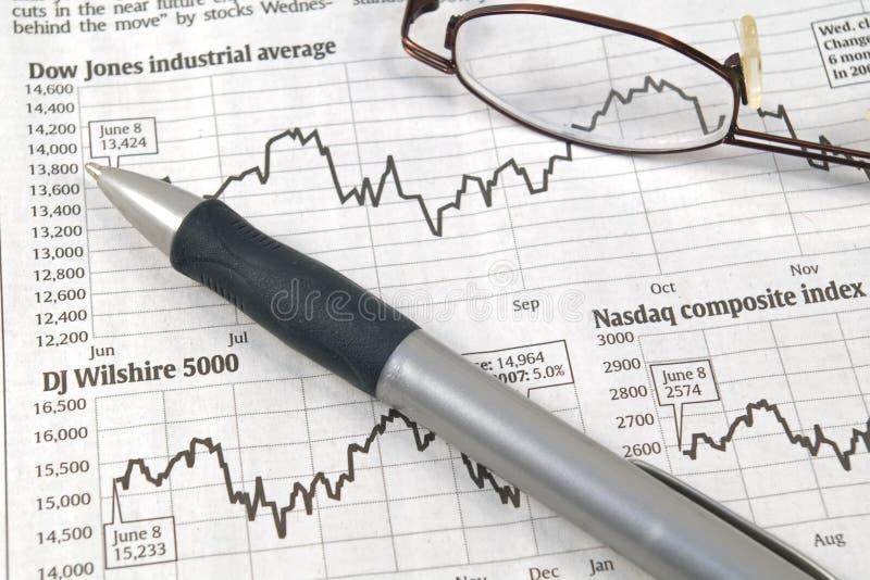 Diagrammi del mercato azionario fotografia stock