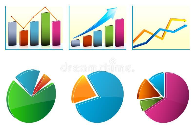 Diagrammi di sviluppo di affari illustrazione di stock