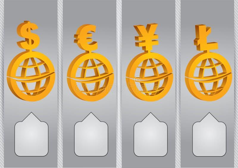 Diagrammi di tasso di borsa valori illustrazione di stock
