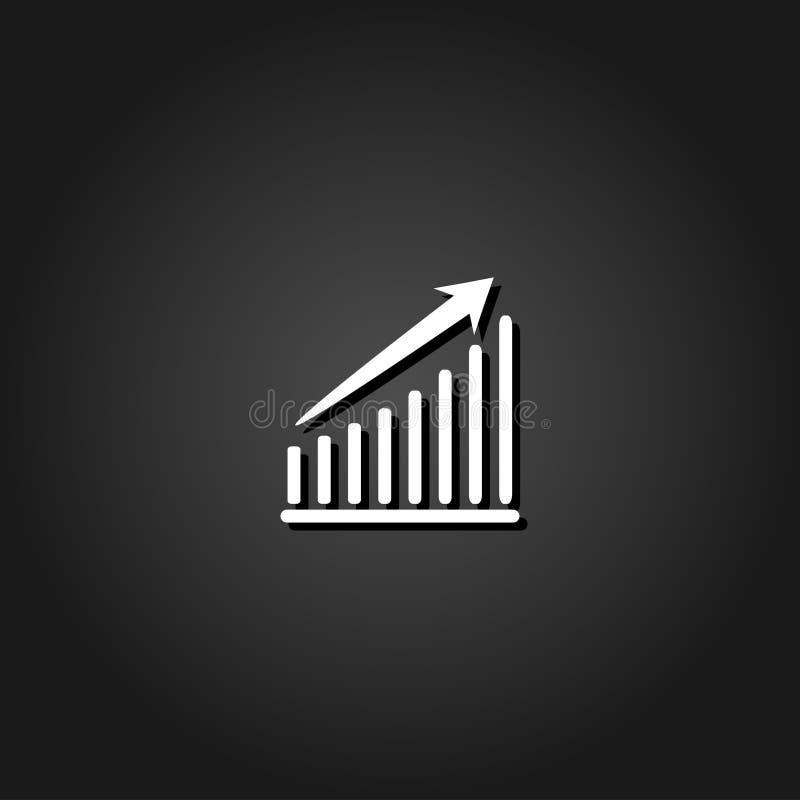 Diagrammikone flach stock abbildung