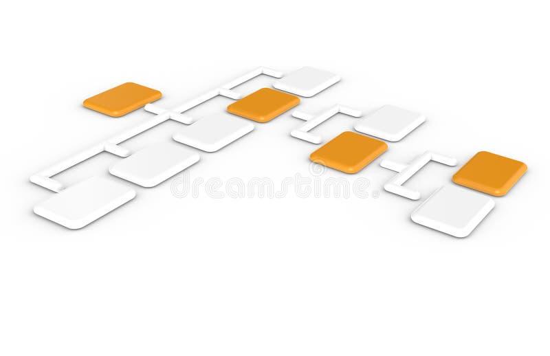 diagramorganisation royaltyfri illustrationer