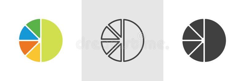 Diagrampaj, diagramsymbol stock illustrationer