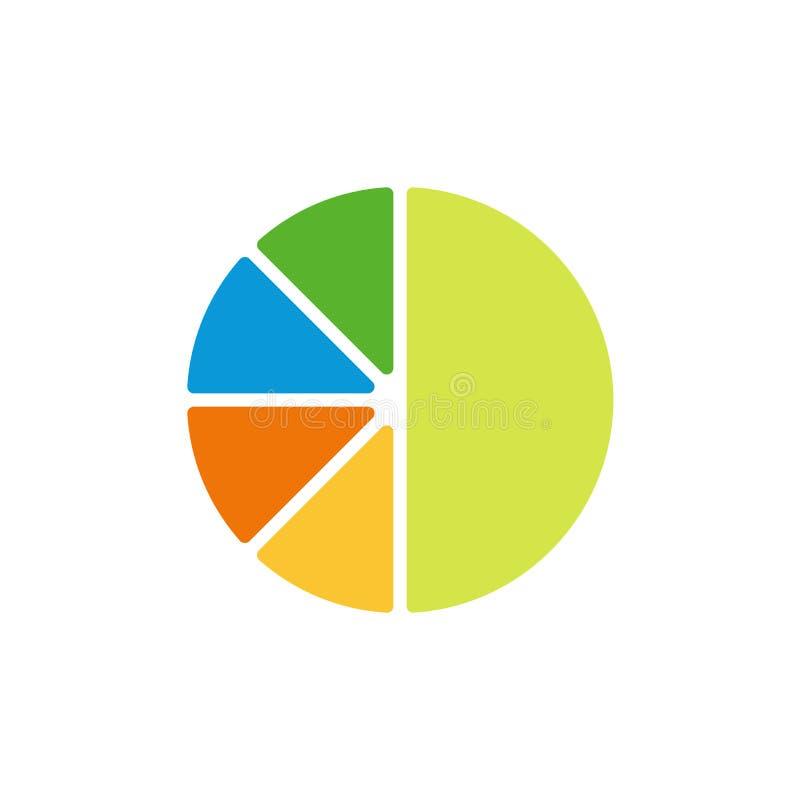 Diagrampaj, plan symbol för diagram royaltyfri illustrationer