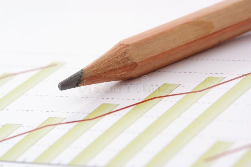 diagrampenna fotografering för bildbyråer