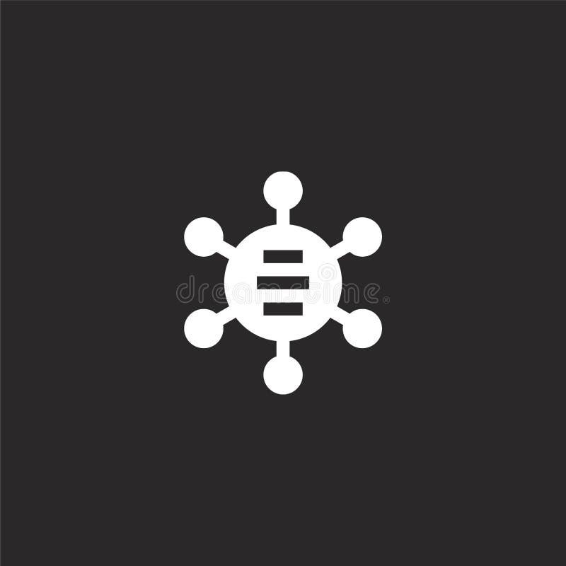 Diagrampictogram Gevuld diagrampictogram voor websiteontwerp en mobiel, app ontwikkeling diagrampictogram van gevulde infographic royalty-vrije illustratie