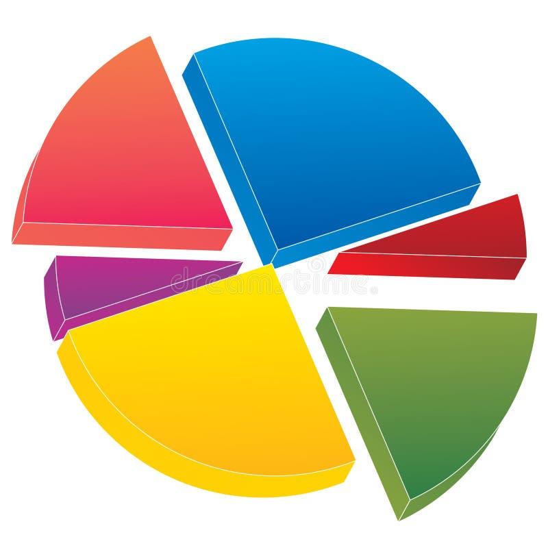 diagrampie stock illustrationer