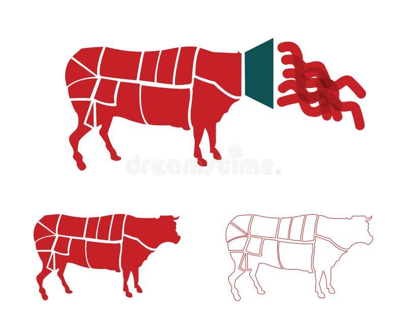 diagrams мясо иллюстрация штока