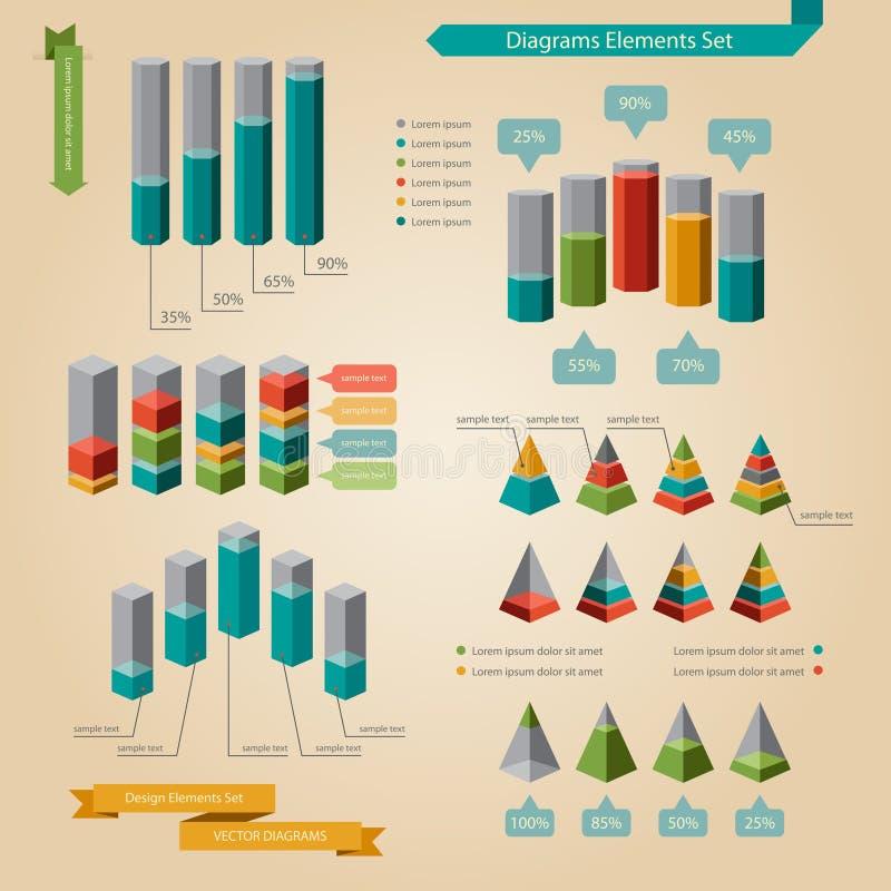 Diagrams el sistema de elemento stock de ilustración