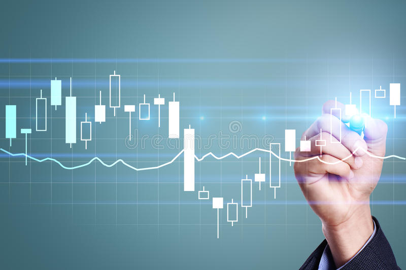 Diagrams and graphs. Business strategy, data analysis technology concept. stock photo